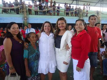 Eu,e a Minha Mãezinha e as Minhas Filhas, a Vereadora Natali, Ingrid e Selena.
