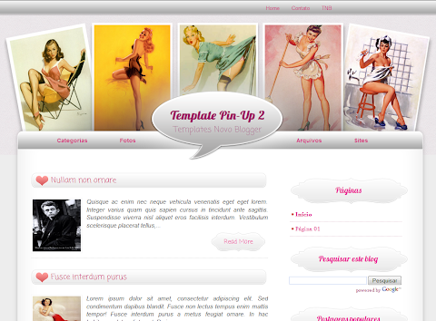 Pin Up 2 Blogger Theme