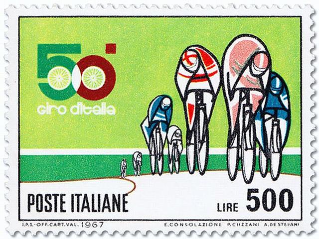 26 selos com temas de bicicletas