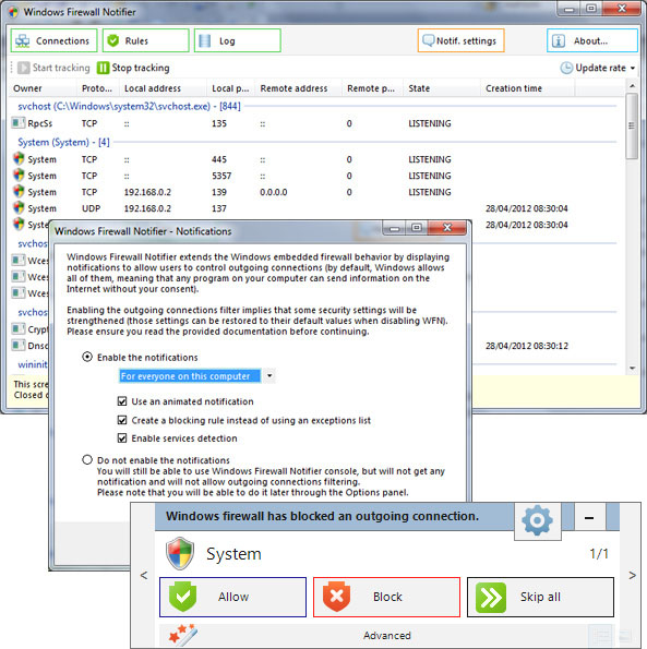 Windows Firewall Notifier WFN