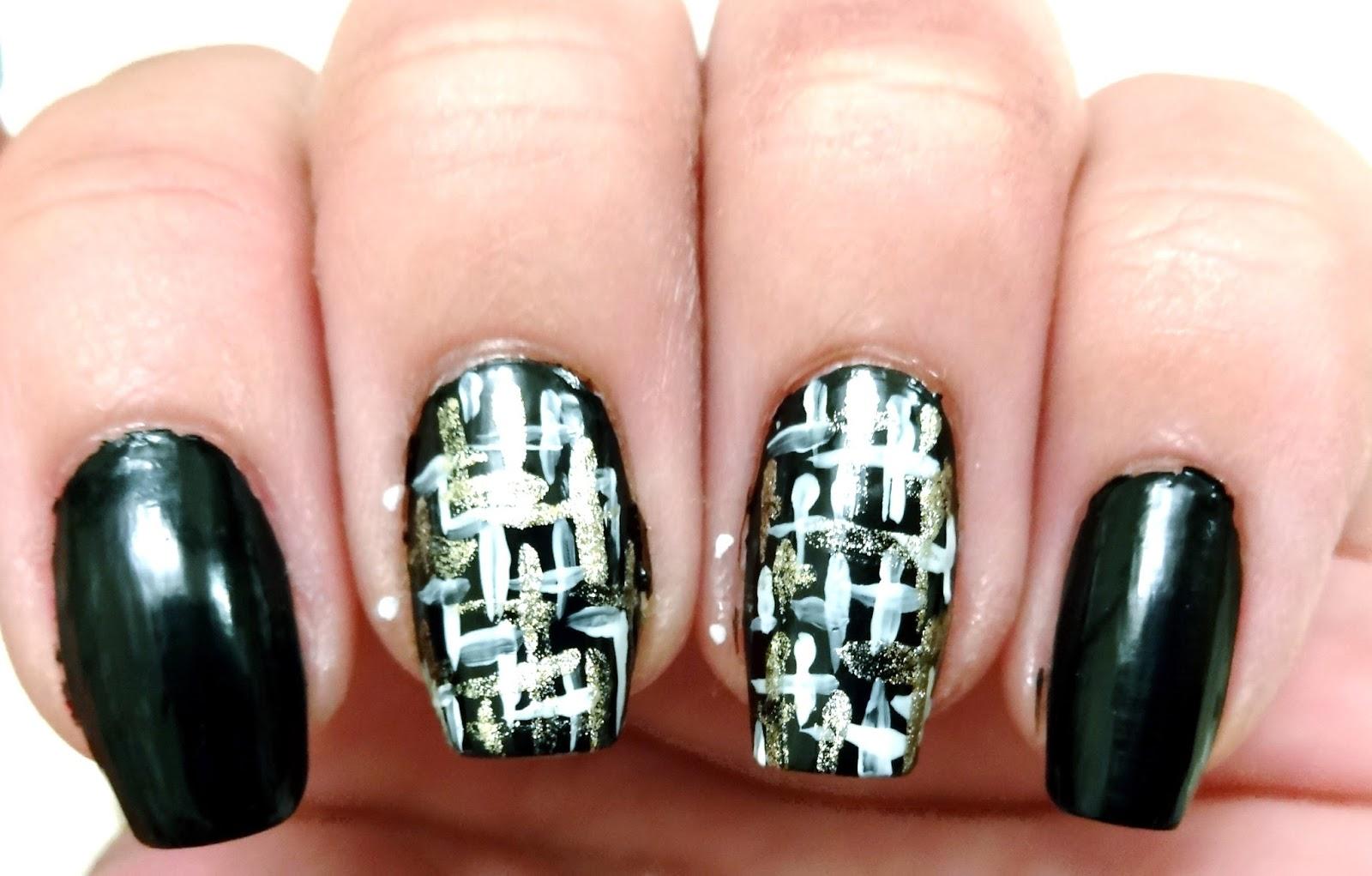 Gold tweed pattern