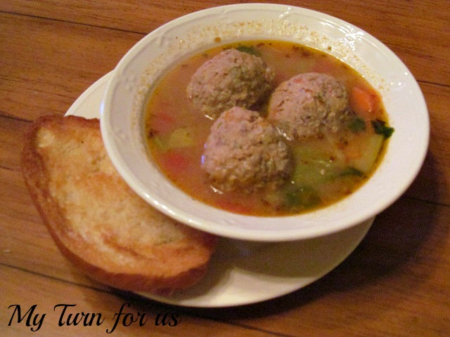 Albondigas is an traditional Mexican flavored meatball soup seasoned ...