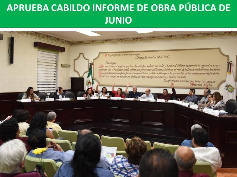 APRUEBA CABILDO INFORME DE OBRA PÚBLICA DE JUNIO