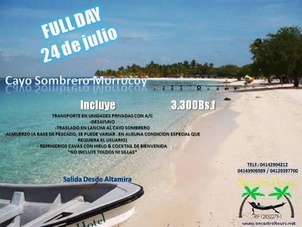 Full day Morrocoy 24/07
