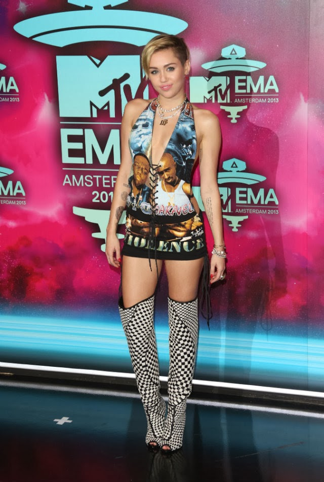 Fashion disasters: Miley Cyrus put Tupac and Biggie on her butt