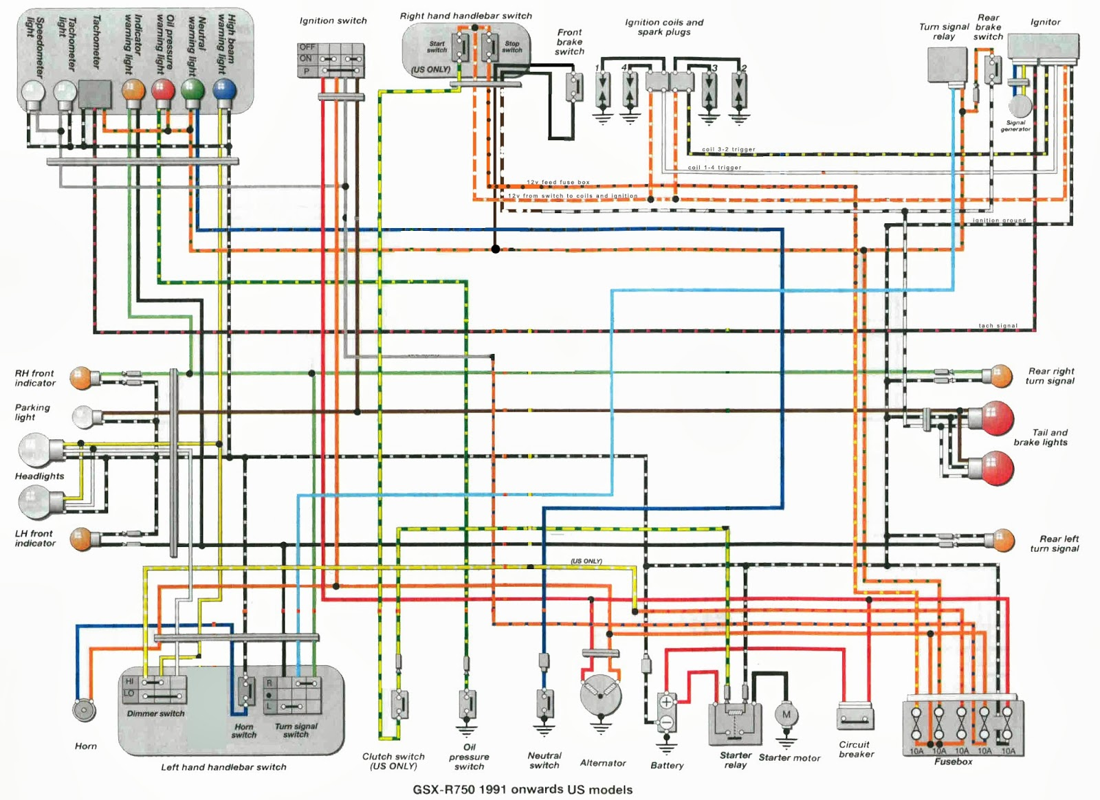 Wiring Diagram Suzuki Gsxr 600 1993 The Wiring Diagram