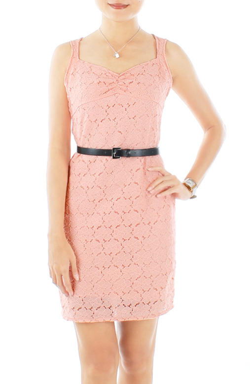 Moon Rose Crochet Lace Dress