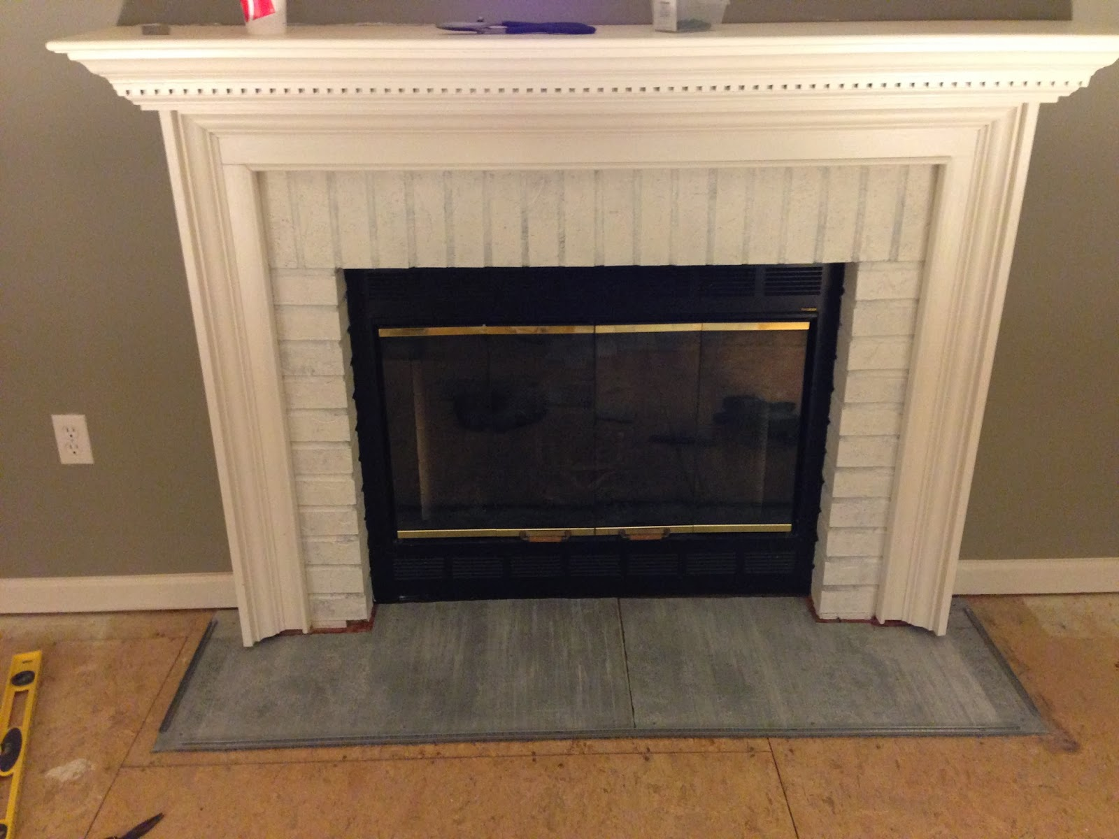 chic meets healthy fireplace hearth pt 1 herringbone marble