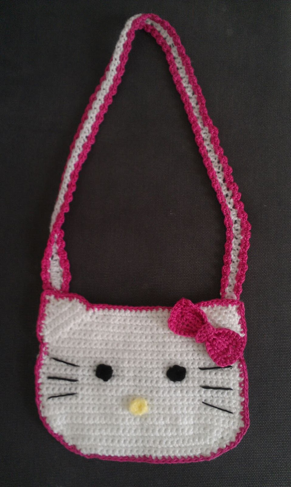 Crochet Purse Patterns Hello Kitty : Crochet inspired: hello kitty crochet bag - free pattern