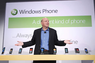 Windows Phone 7 launch by Steve Ballmer, the CEO