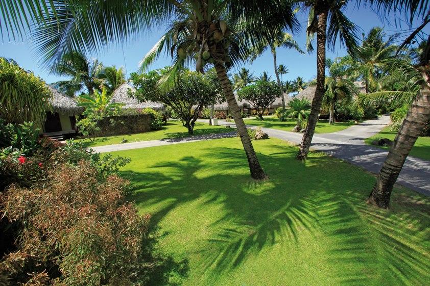 Moorea traveler for Garden pool bungalow hilton moorea