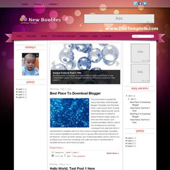 New Boubles Blogger Template. blogger template magazine style