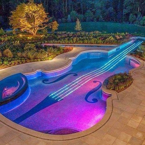 guitar shaped swimming pool wow