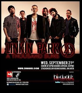 Harga Tiket Konser LINKIN PARK Di Jakarta 2011