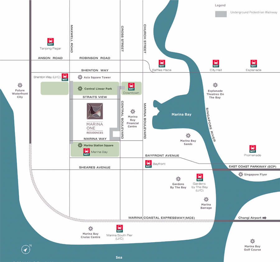 Marina One Residences MRT Lines
