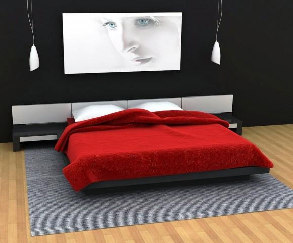 conceptions chambres coucher rouge et noir d cor de maison d coration chambre. Black Bedroom Furniture Sets. Home Design Ideas