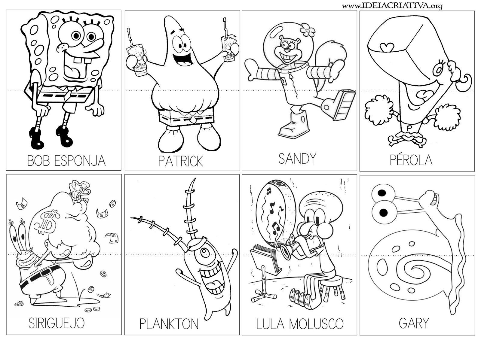 imagens para colorir bob esponja - Desenhos do Bob Esponja para colorir
