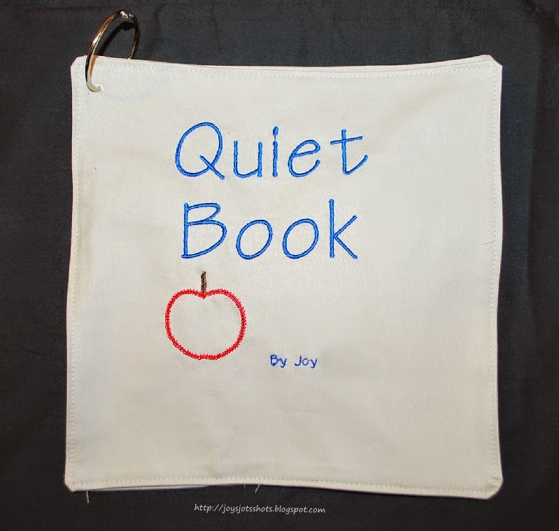 Joy39s Jots Shots Amp Whatnots Quiet Book Cover Page Free