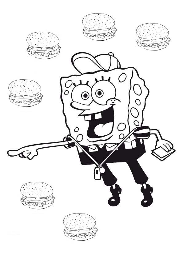 spongebob krabby patty coloring pages - photo#5