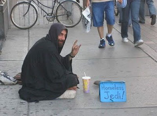 funny homeless sign jedi