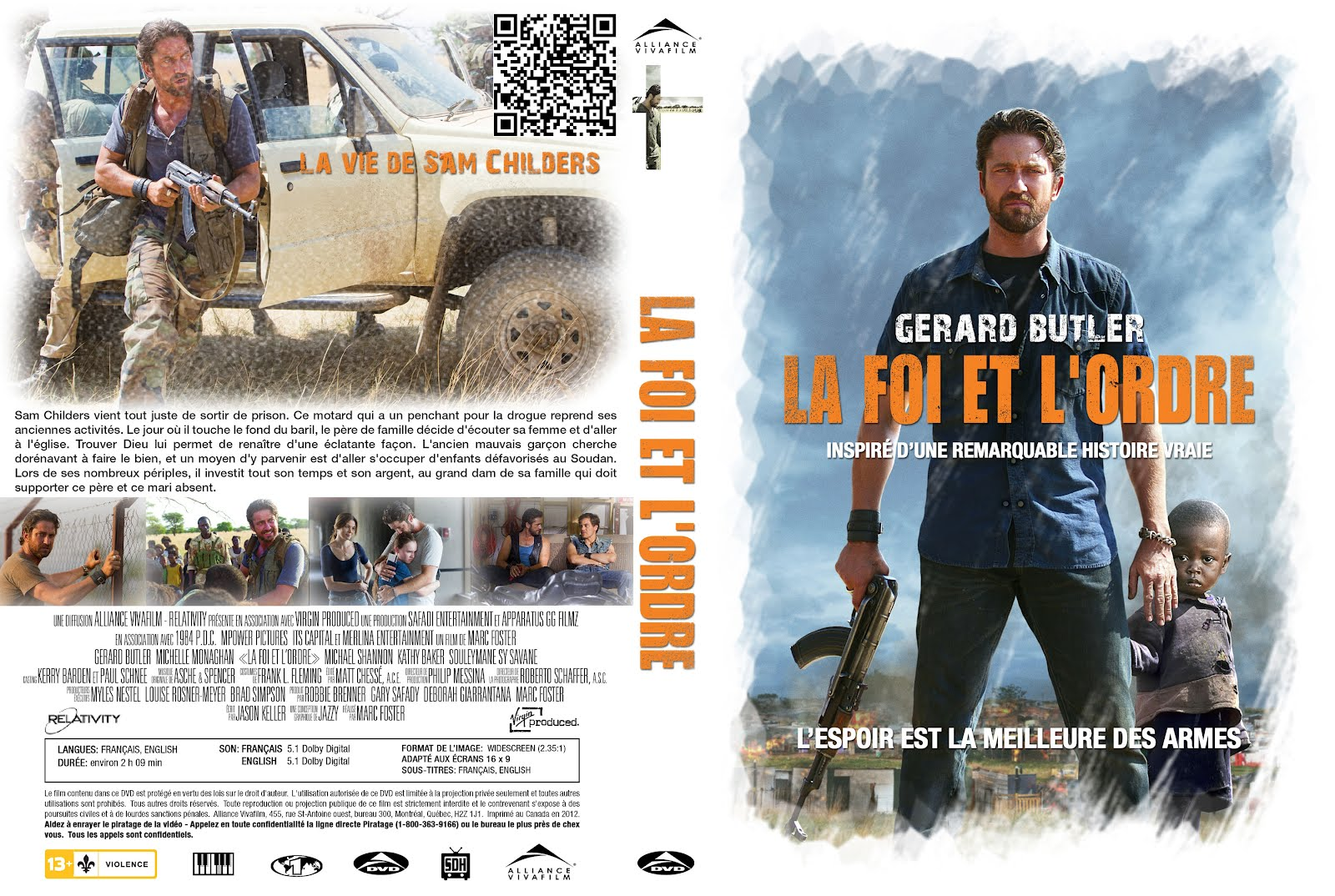 La Foi Et L'ordre Machine Gun Preacher Dvd Front Cover