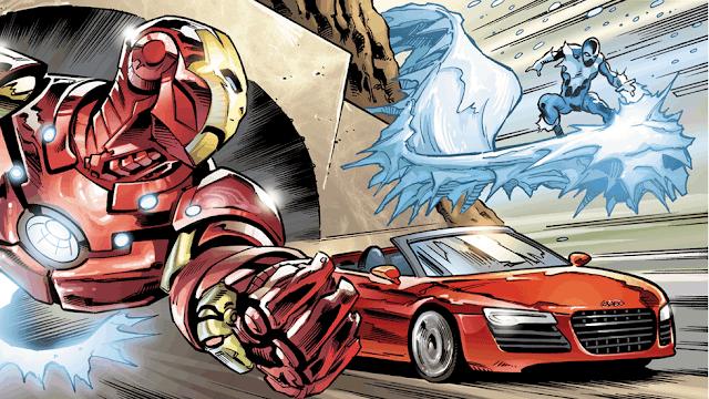 comic iron man audi