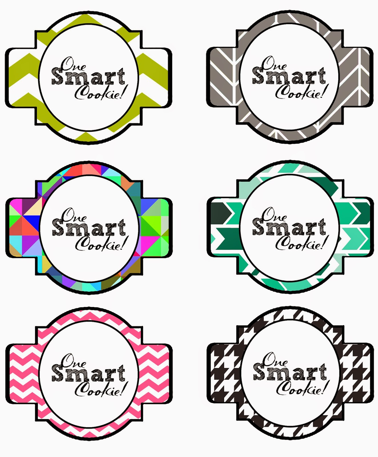 This is a picture of Handy One Smart Cookie Printable