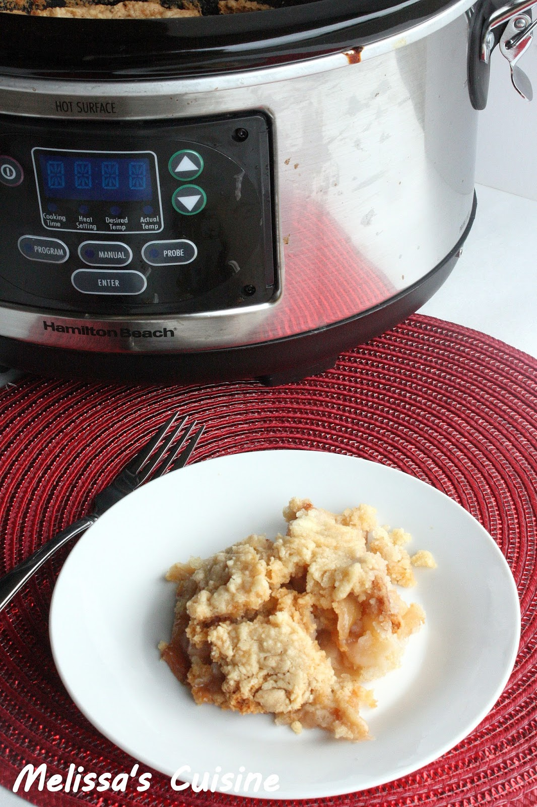 Melissa's Cuisine: Slow Cooker Apple Cobbler {and Slow Cooker Giveaway}
