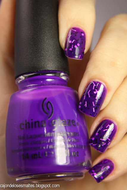 China Glaze Creative Fantasy y Flormar Icy Top 02 jelly sandwich