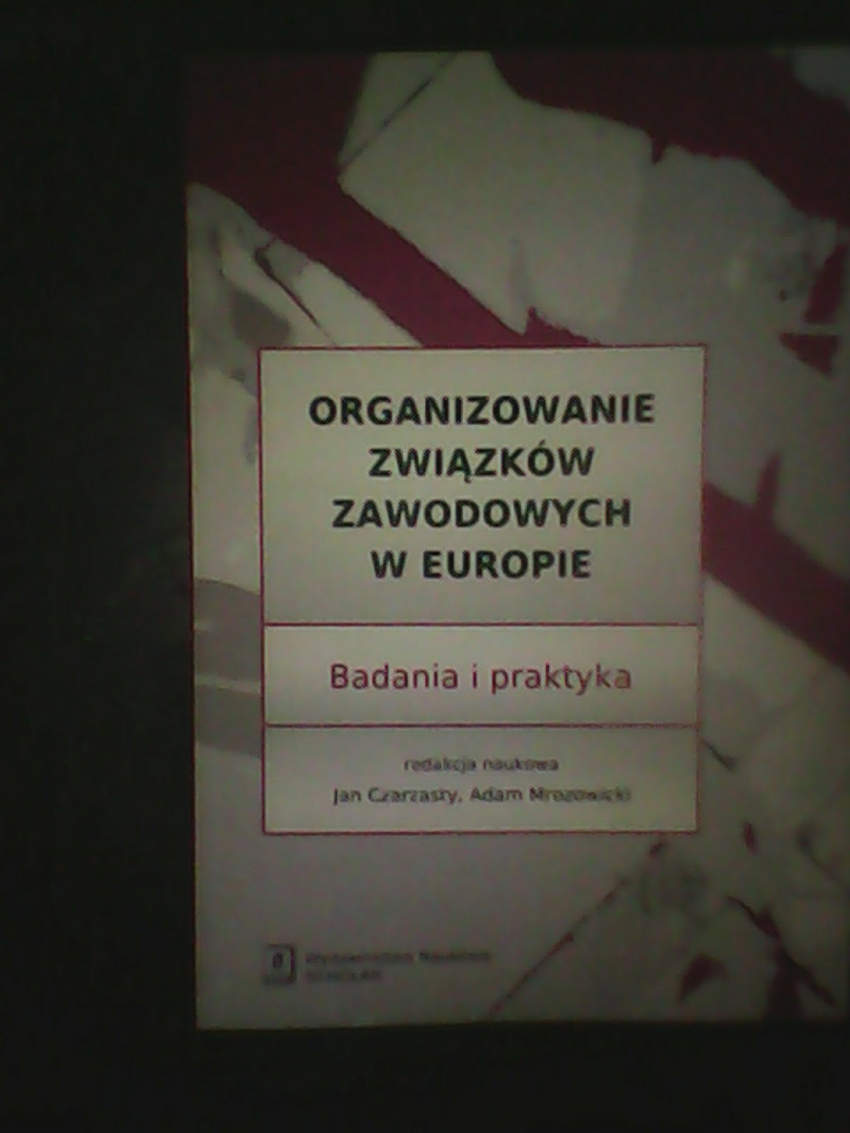 Organizing Trade Unions in Europe.