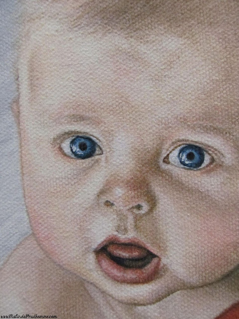 baby portrait, baby painting, portrait artist, portrait painting, child portrait, baby basketball, original artwork, custom artwork, commission artwork