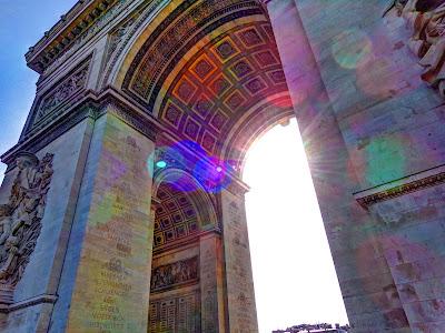 Arc de Triomphe lens flare