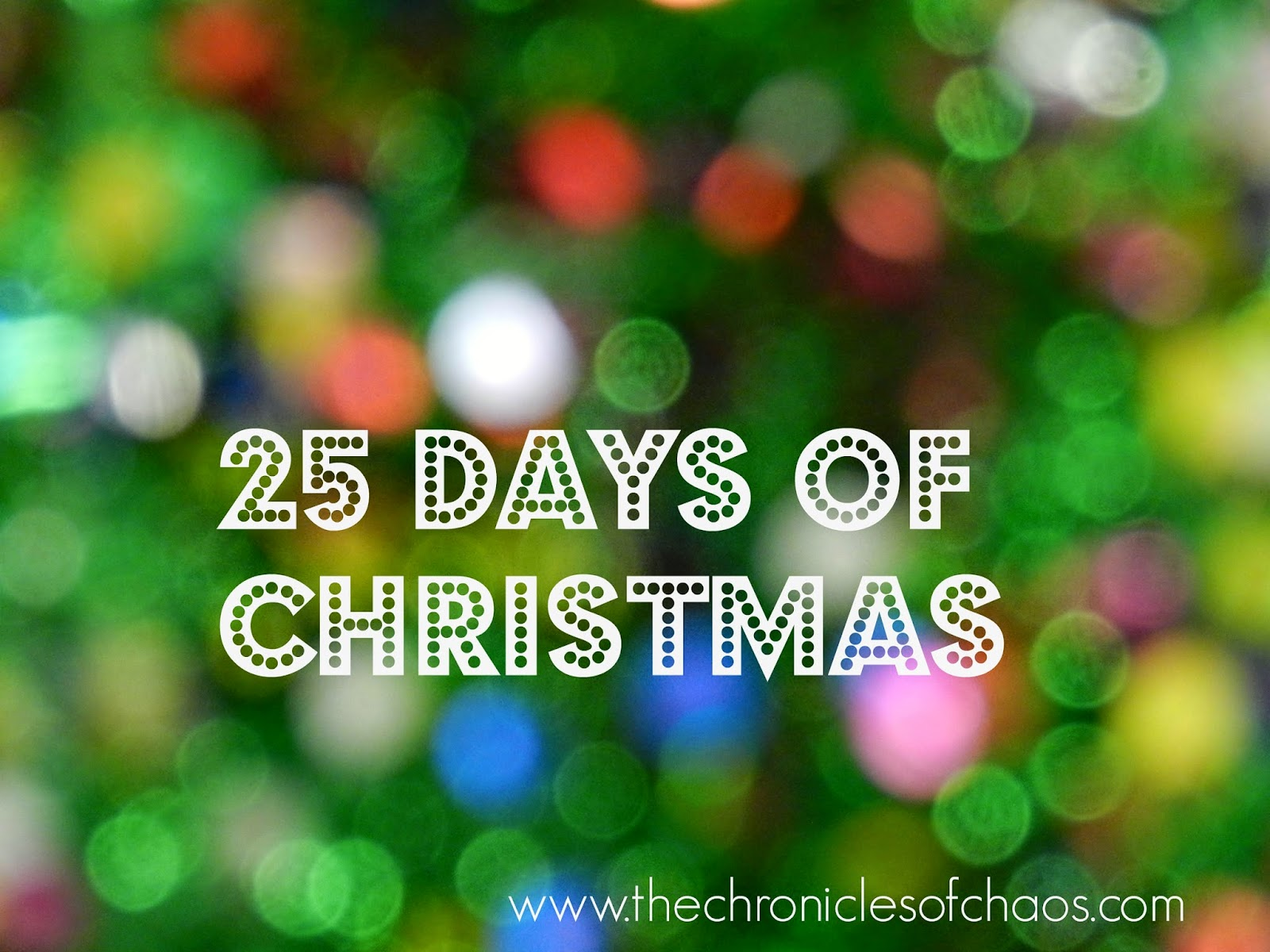 25 Days of Christmas; 25 Christmas activities for kids
