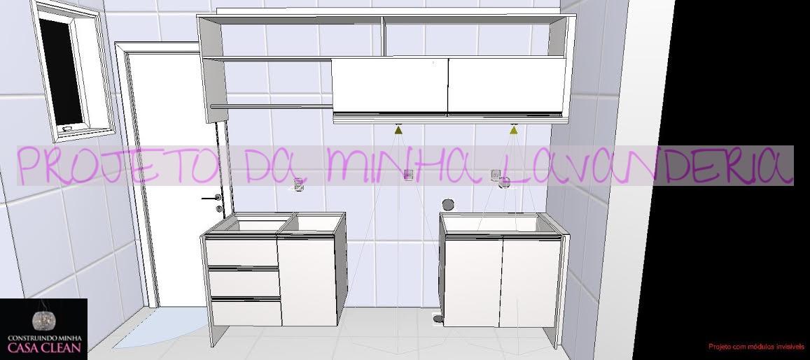 Famosos Construindo Minha Casa Clean: Projeto da Minha Lavanderia Sob  SH97