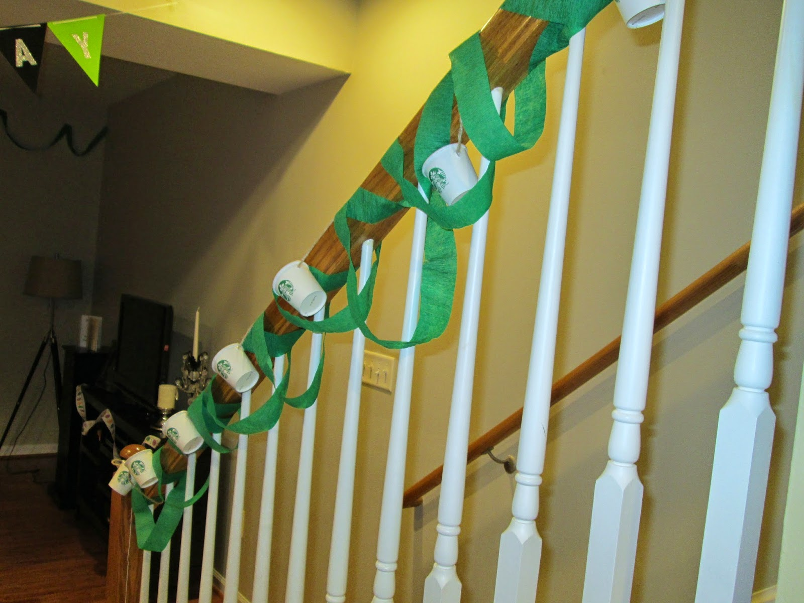 Lifestyle post on DIY decor for a starbucks birthday party