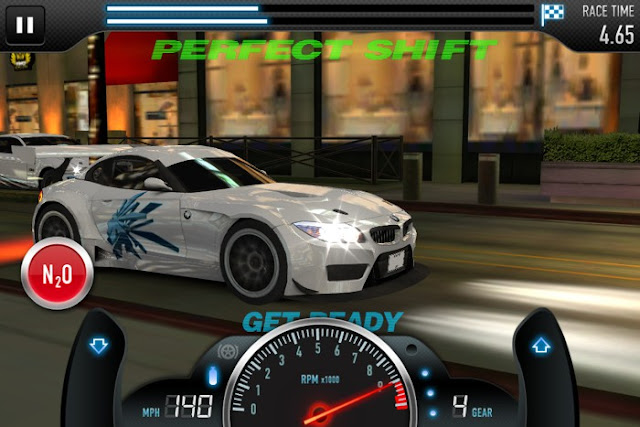 CSR Racingでのパーフェクトシフト