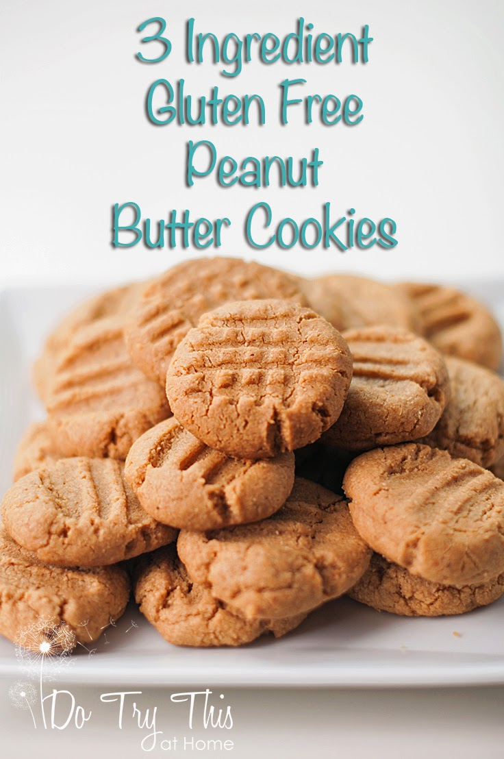 Do Try This at Home: Gluten Free Easy 3 Ingredient Peanut Butter Cookies