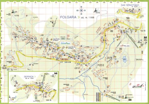 Cartina Mappa Piantina Folgaria (TN)