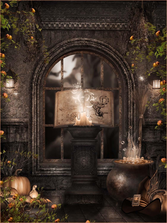 digital halloween backdrop choices