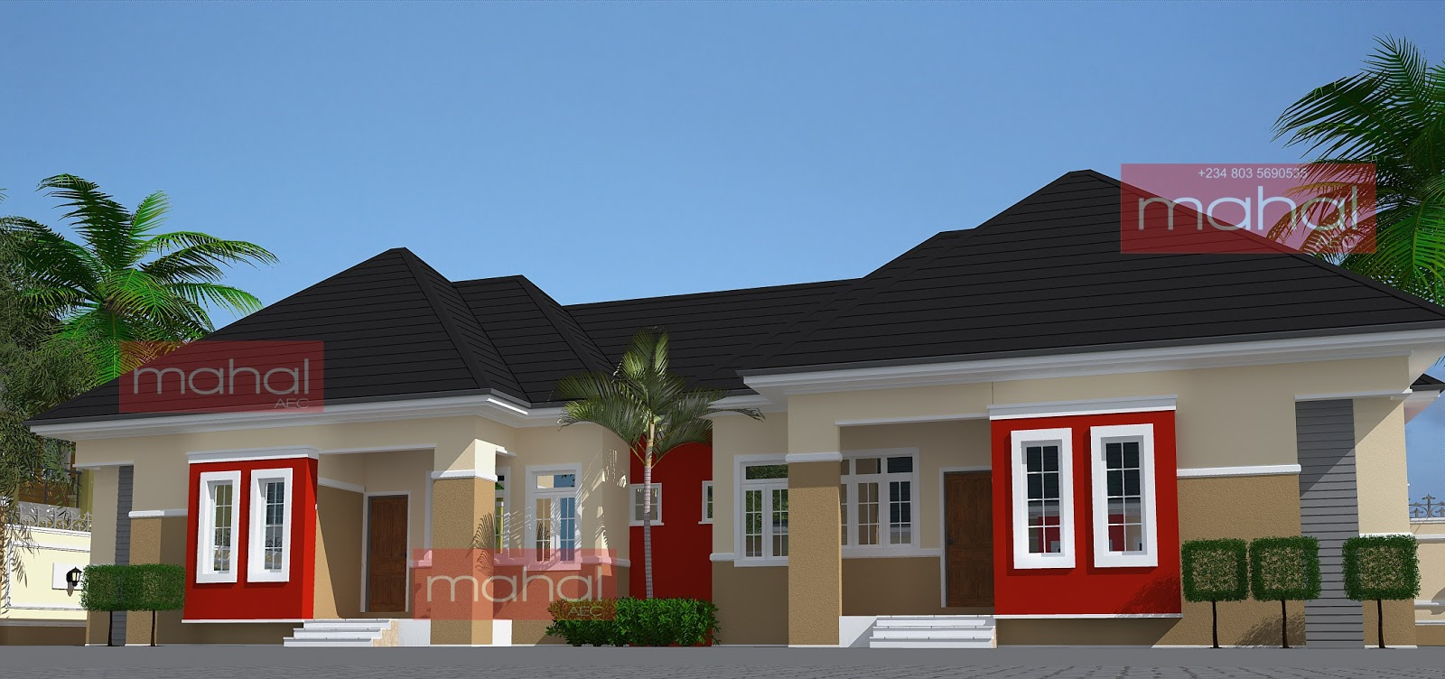 Contemporary nigerian residential architecture july 2013 for Architectural designs for 3 bedroom flat
