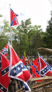 Historical Fiction author Jessica James attends Civil War flag raising
