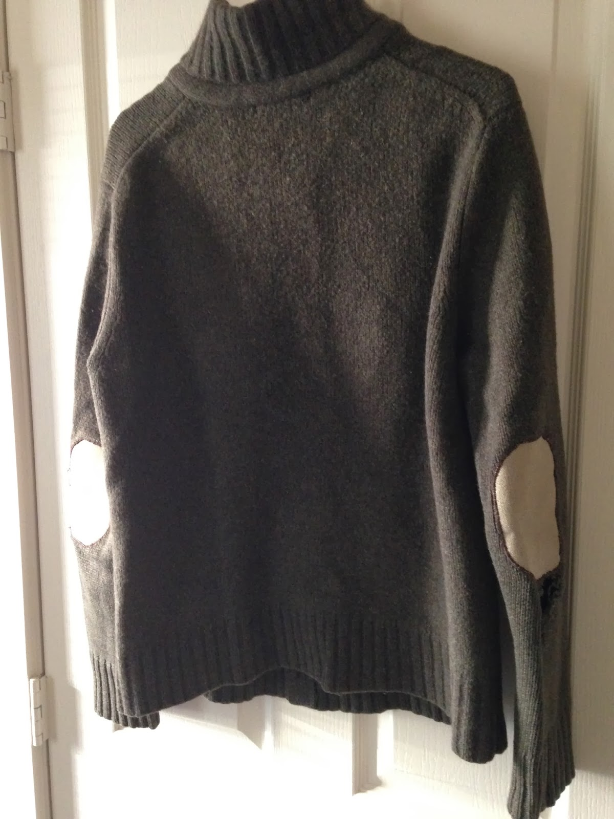 Ulterior Alterations Wool Sweater to Vest Refashion Before