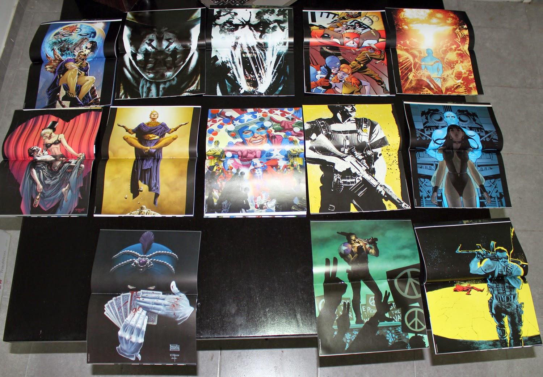 Pósters  / Afiches de regalos en estas ediciones de Antes de watchmen