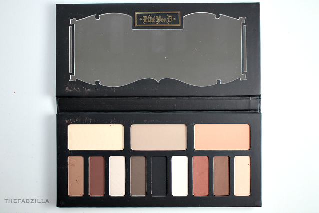 urban decay naked 1, urban decay naked 2, urban decay naked 3, Kat Von D Shade + Light Eye Contour Palette, Review, Swatch, neutral palette