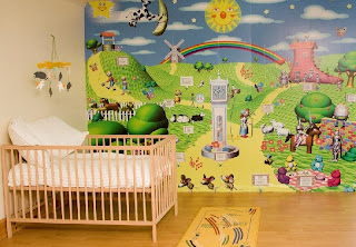 Modern Nursery Wall Decals Idea