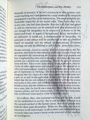 intelligence and will in the ignorant schoolmaster by jacques rancie Hallward, peter - think again alain badiou & the future of philosophy  anti-aesthetics jacques rancie `re afterword:  (1989), the ignorant schoolmaster (1991),.