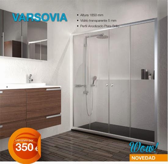 Mamparas Para Baño Villa Maria:Oferta de Mampara de Baño Modelo Varsovia en Aluminios Tres