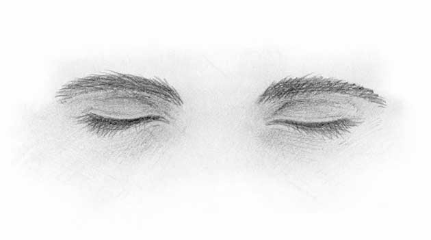 Daily Danspirations Eyes Drawn Closed