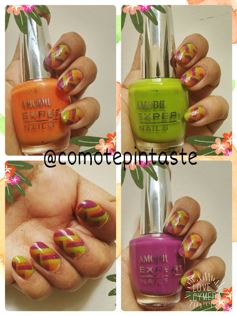 collage, nail art, fishbraid, amodil, esmaltes