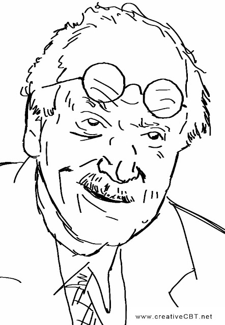 Carl Jung Sketch - famous psychotherapists - creative CBT